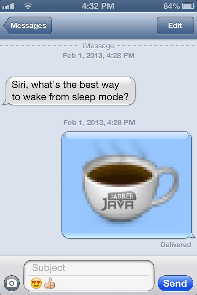 Such helpful tech support! #JabberJava #coffee #funny #java