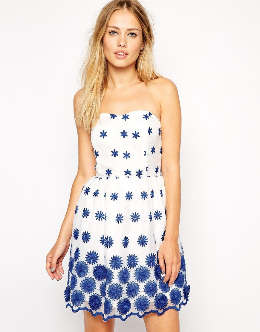 Asos d flower organza prom dress my style pinterest prom