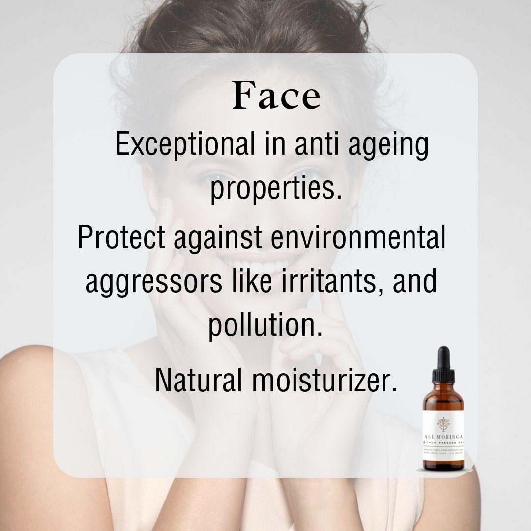 This versatile organic Moringa oil is your moisturizer and