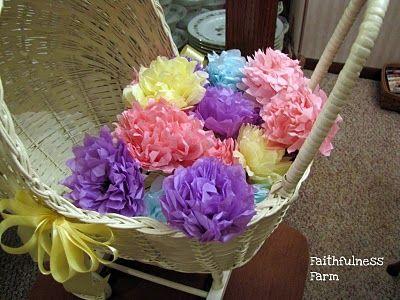 *Vintage* Tissue Paper Flowers ~ Faithfulness Farm