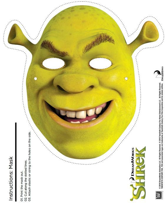 free printable shrek mask craft halloween fun pinterest rh pinterest com Toy Story 2 Logo Shrek the Musical Logo