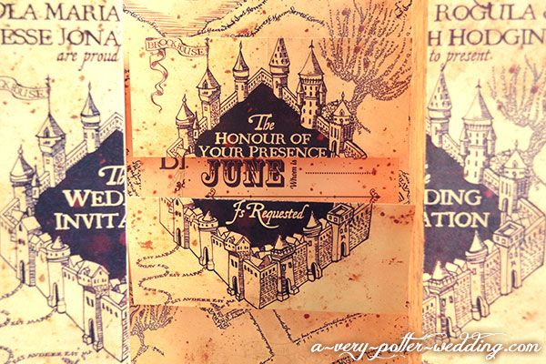 Marauders Map Wedding Invitations Hogwarts Invitation Ideas