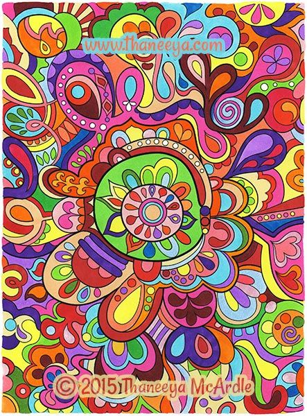 Art From Groovy Abstract Coloring Book By Thaneeya McArdle