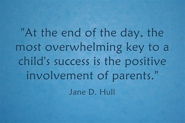 Quote Parental Involvement Is Key To Success With Images