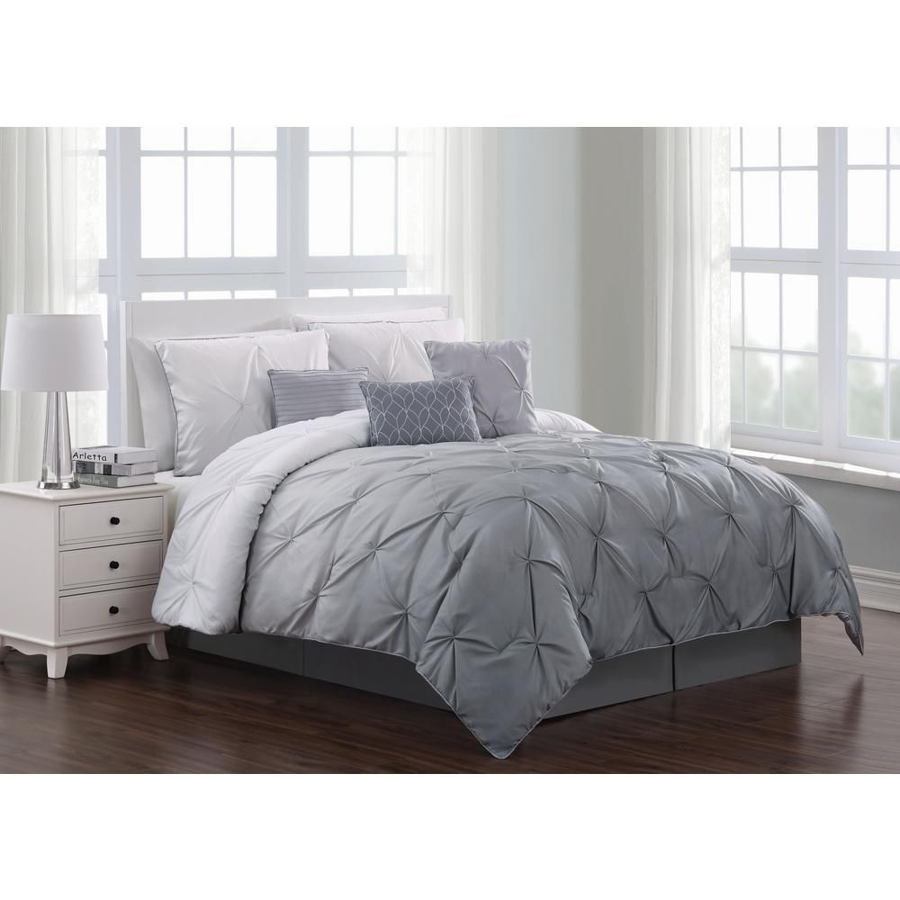 Amazon Com Max Studio Modern Geometric Quatrefoil Trellis Pattern King Size 6pc Duvet Comforter Set G Grey Comforter Sets Comforter Sets Duvet Comforter Sets