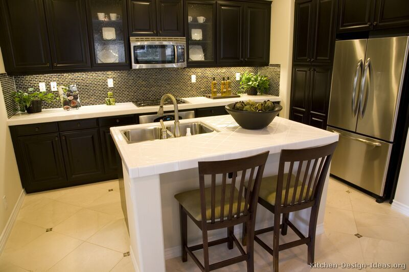 Kitchen Design Ideas Org Enchanting Traditional Dark Wood  Black  Espresso Kitchen Cabinets #14 Inspiration