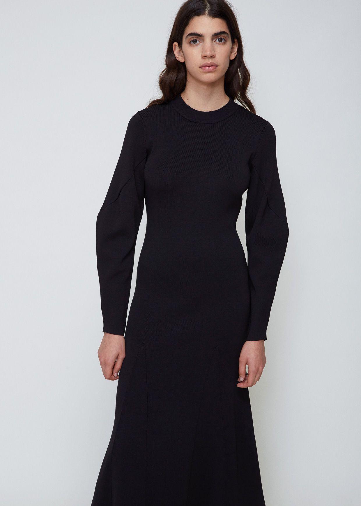 Viden Nedi Dress Black Dresses Knit Midi Dress Dress Up [ 1736 x 1240 Pixel ]