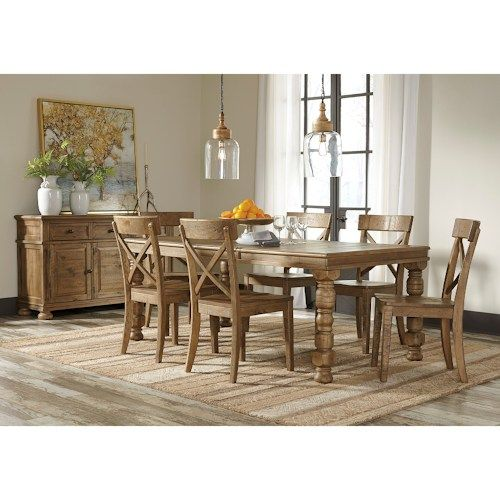 Dining Room Extension Table Signature Designashley Trishley Solid Pine Rectangular Dining