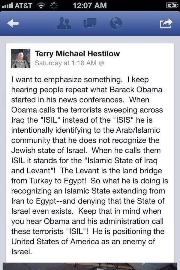 "@belvdere @DixieRebelForce @nytxnn ""ISIL is not Islamic""- #Obama pic.twitter.com/UzPYoEiH9G http://allenbwest.com/2014/08/obamas-use-isil-reveals-true-allegiance-animus-towards-israel/…"