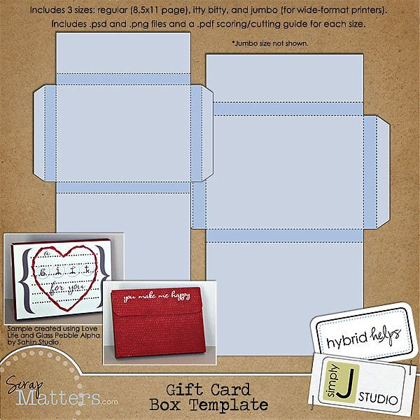 Gift Card Box Template Box Template Valentines For Kids Gift Card Boxes