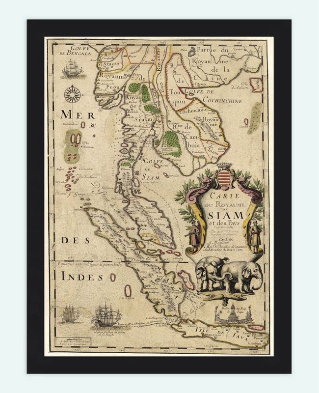 1d26369ba8 Old Map of Thailand