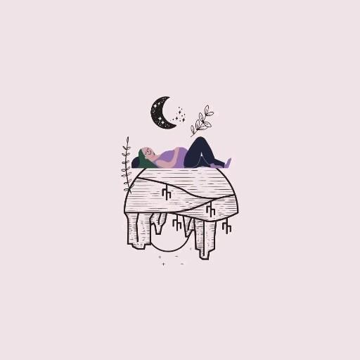 Pregnant illustration, cactus design, moon design!