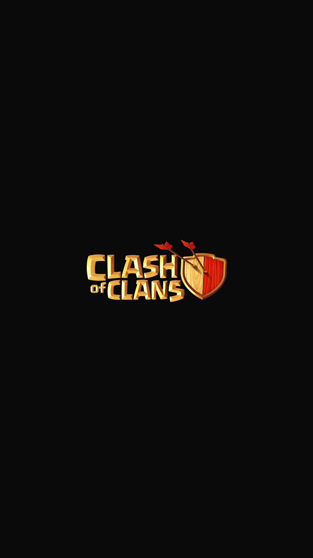 Clash Of Clans Logo Art Dark Game Iphone 6 Plus Wallpaper