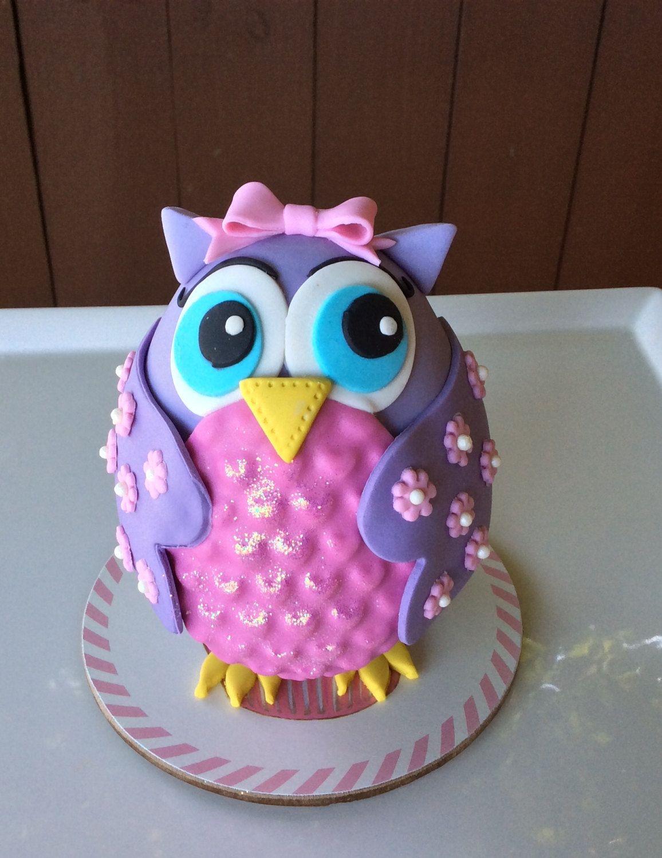 Owl Cake Topper Birthday Baby Shower Girl Cake Topper Pink Owl