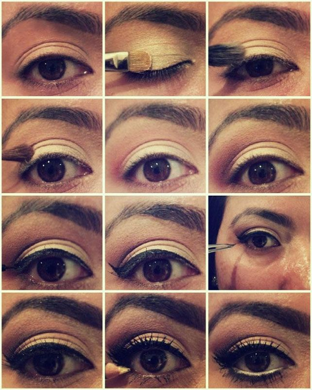 60s Eye Shadow Tutorial Eyeshadow Beauty With Images Gold