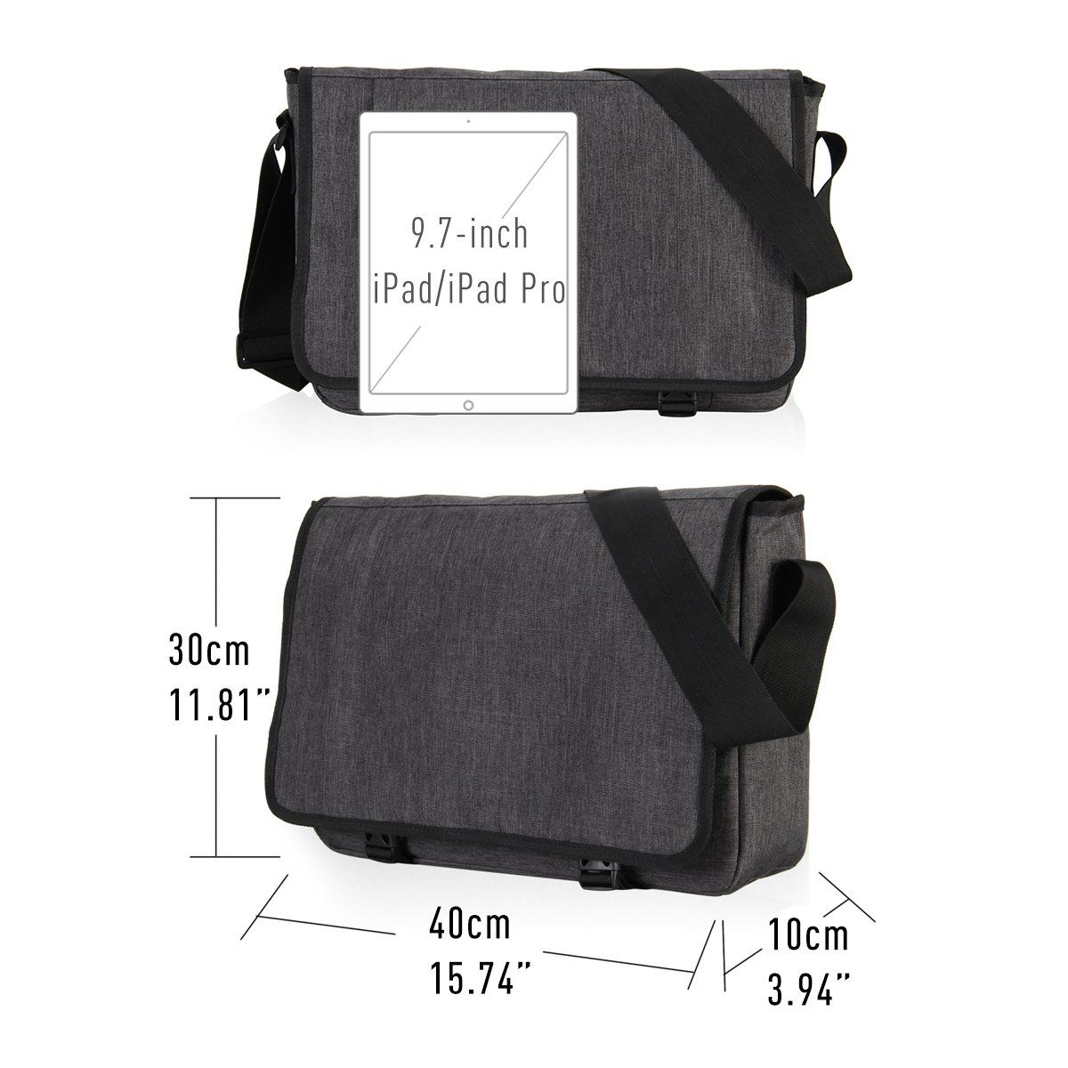 03fc03d1b05e Hynes Eagle Laptop Messenger Bag for 15 inch Dark Gray     You can find  more details by visiting the image link. (This is an affiliate link)   travelbags