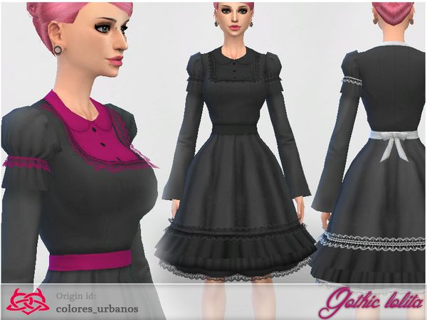 84785df70181 Gothic Lolita dress by Colores Urbanos at TSR via Sims 4 Updates ...