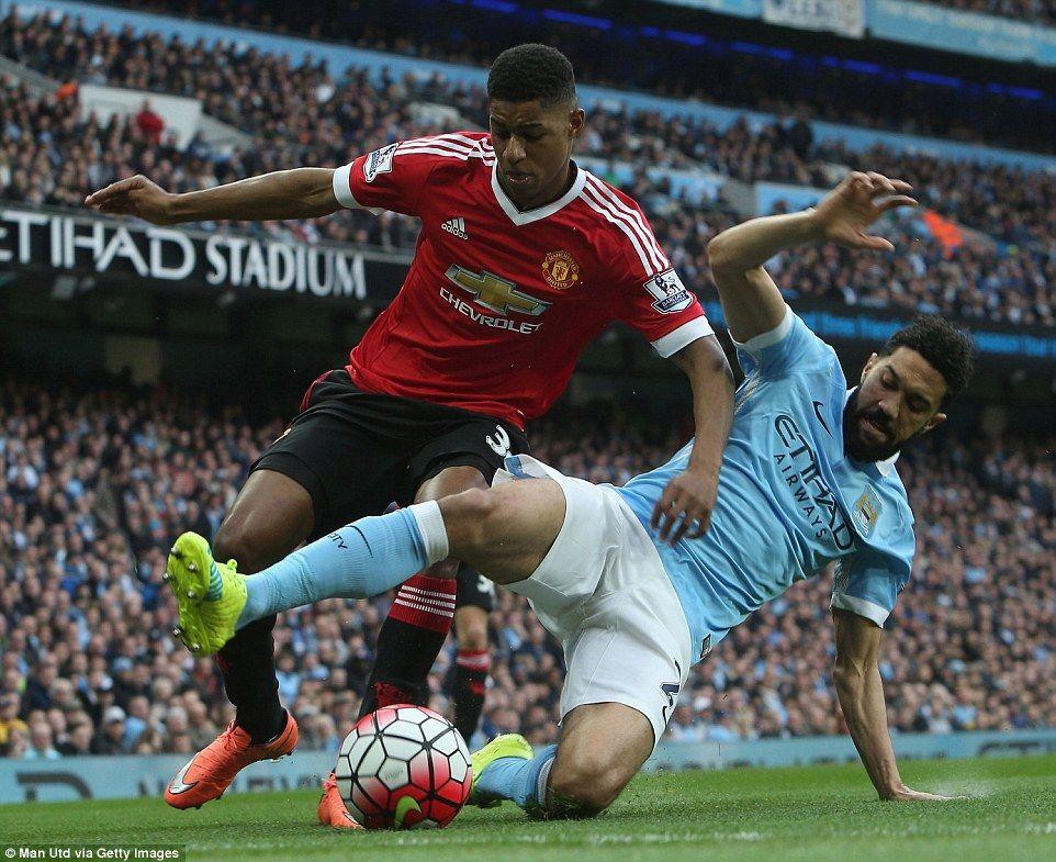 Manchester City 01 Manchester United Marcus Rashford