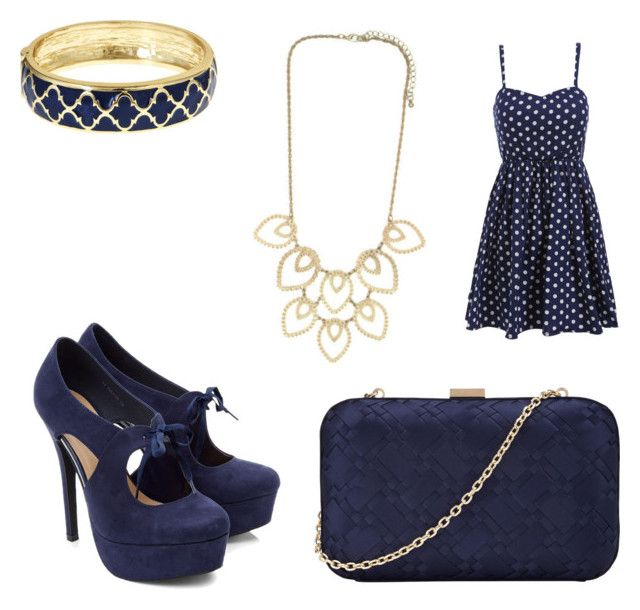Navy and Gold by sadsmith on Polyvore featuring polyvore fashion style John Lewis Fornash clothing