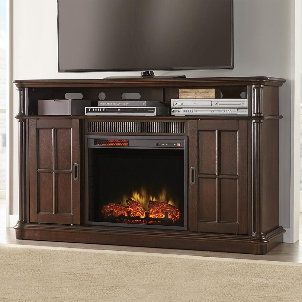 Jamerson manor in media console infrared electric fireplace in