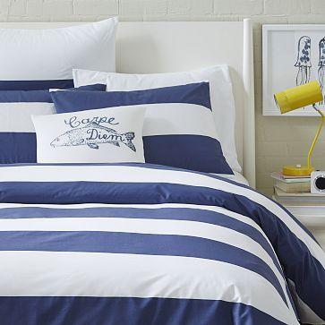 Mod Stripe Duvet Cover Shams Striped Duvet Covers Striped Duvet White Duvet Covers