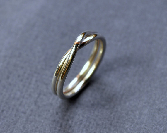 Promise Infinity Ring. Modern Contemporary Simple Sleek Elegant Design. Sterling Silver Jewelry. Handmade by Epheriell on Etsy. on Etsy, $61.00