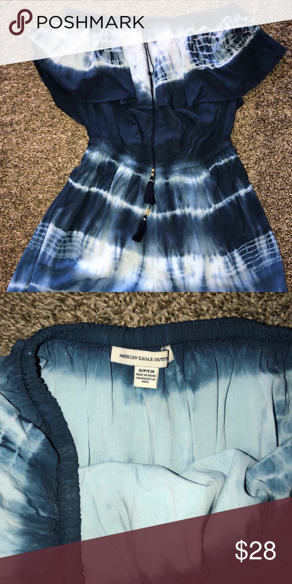 fd8a4a00fd5 B4GO 🤑American eagle tie dye ruffled romper sm Adorable tie dye ruffled  shirt romper women s small .. DEAL DAYS DEAL  FOR A MINIMUM TIME