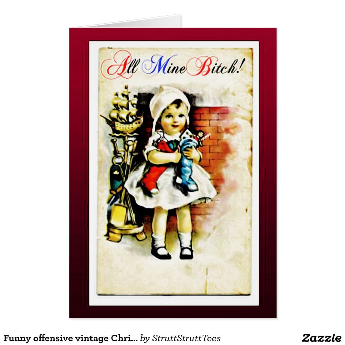 Funny offensive vintage Christmas card | Pinterest | Vintage ...