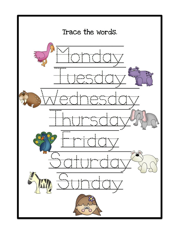 Uncategorized Days Of The Week Worksheet days of the week worksheets activity shelter kids shelter