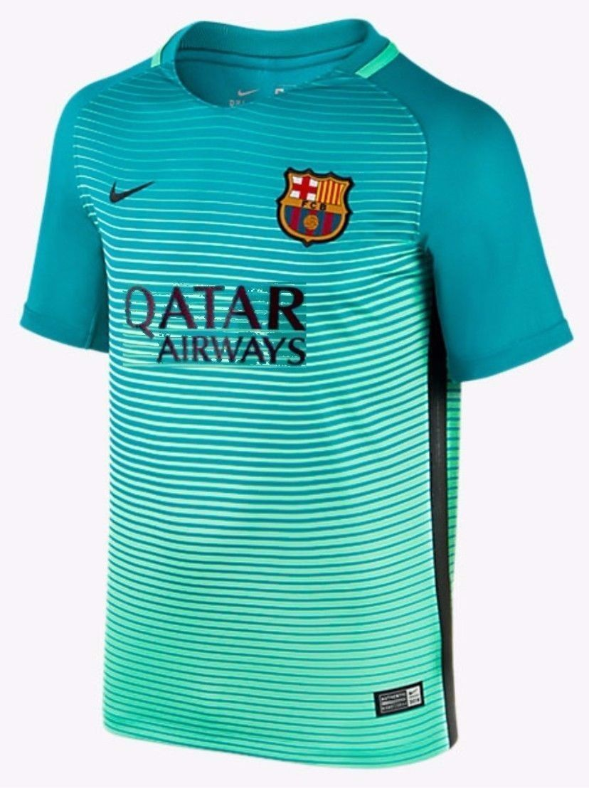 NIKE FC BARCELONA THIRD YOUTH JERSEY 2016 17 QATAR. 4741b2cad
