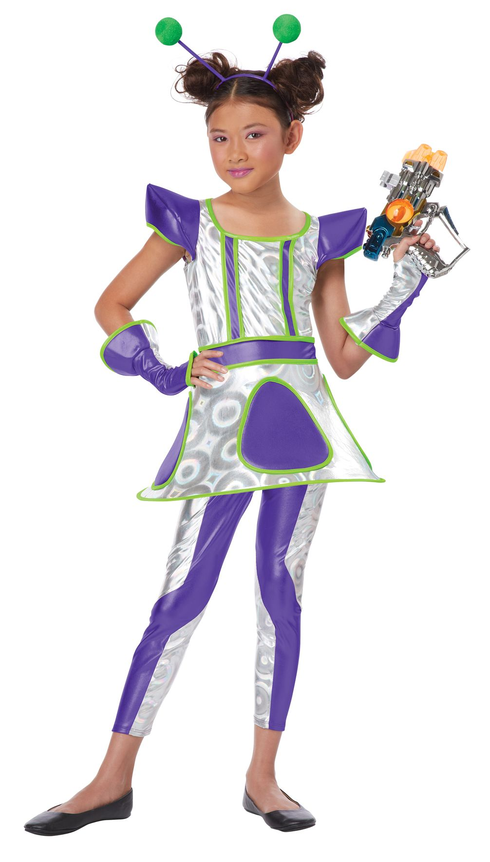 Cosmic cutie space alien girl 39 s costume space aliens for Outer space outfit