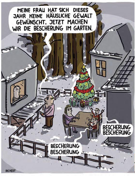 weihnachten mal ganz anders feiern lustig cartoon. Black Bedroom Furniture Sets. Home Design Ideas