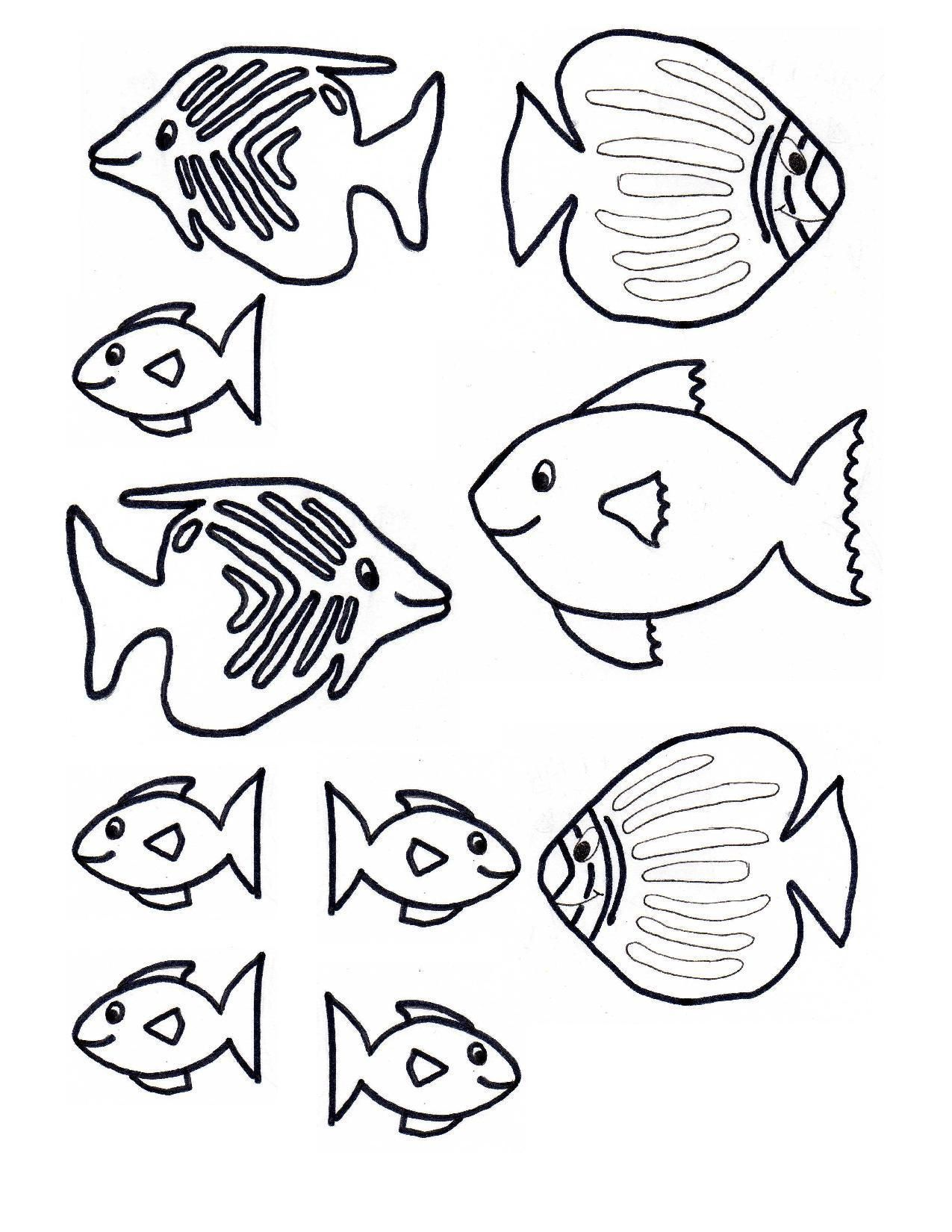 Aquarium Worksheets Kindergarten Fish Template Fish Coloring Page Coloring Pages