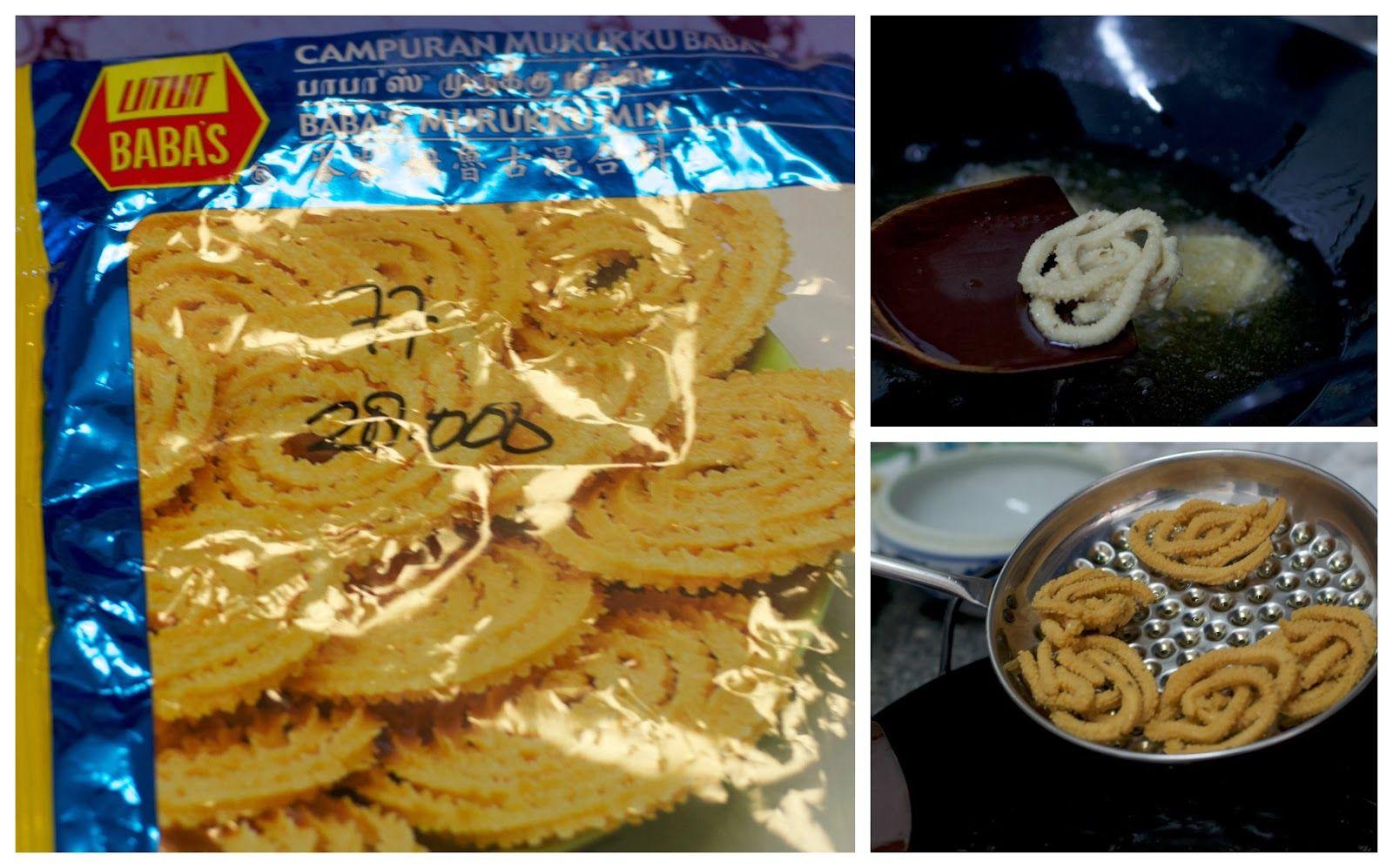 Murukku adalah salah satu snack yang biasanya disajikan di