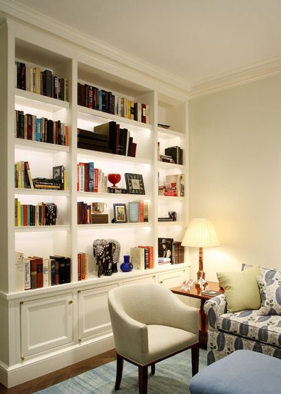 Living Room Library Design Ideas: The Reading Nook With Small Vertical Office From Crate