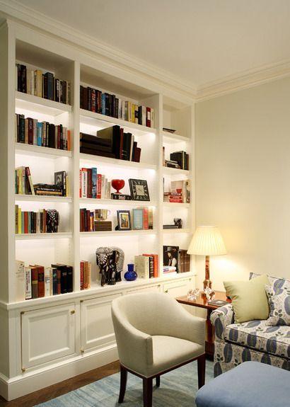 Small Home Library Design   Bookshelves 1 U0026 3 Recessed For Hampton .