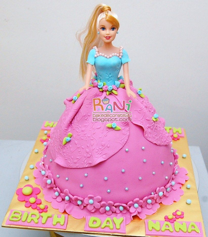 Easy Doll Cake Images : Rani Canglun Delights Fondant Barbie Doll Cake Cakes ...