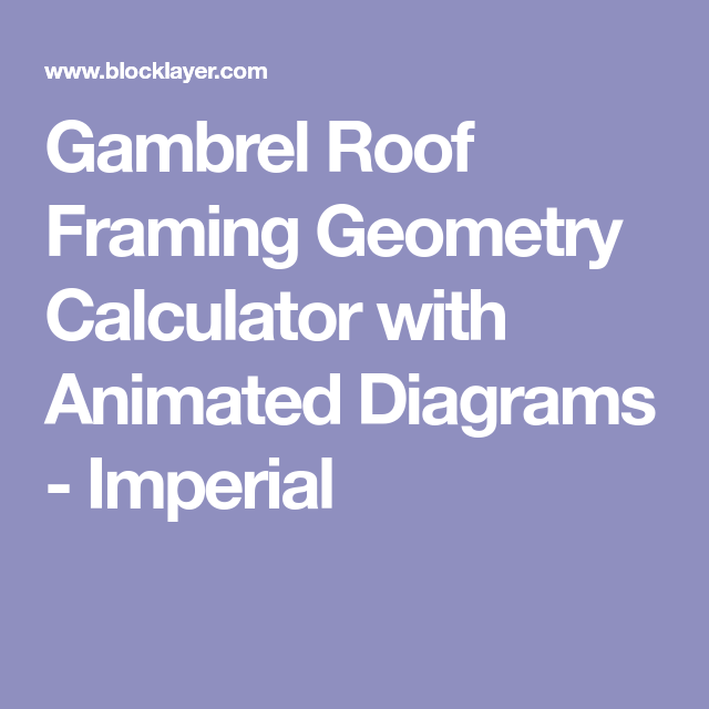 Gambrel Roof Framing Geometry Calculator with Animated Diagrams ...