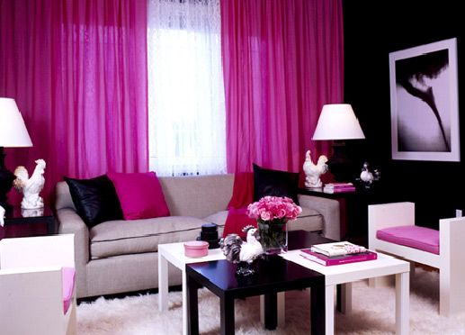 Trading Spaces: Where Are They Now? | Sitting rooms, Pink black and Room
