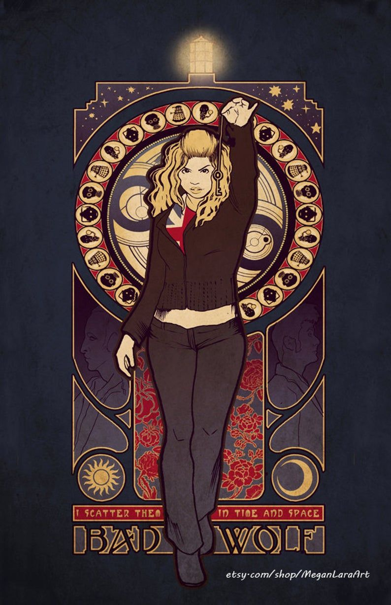 Bad wolf rose tyler signed art prints etsy in 2020