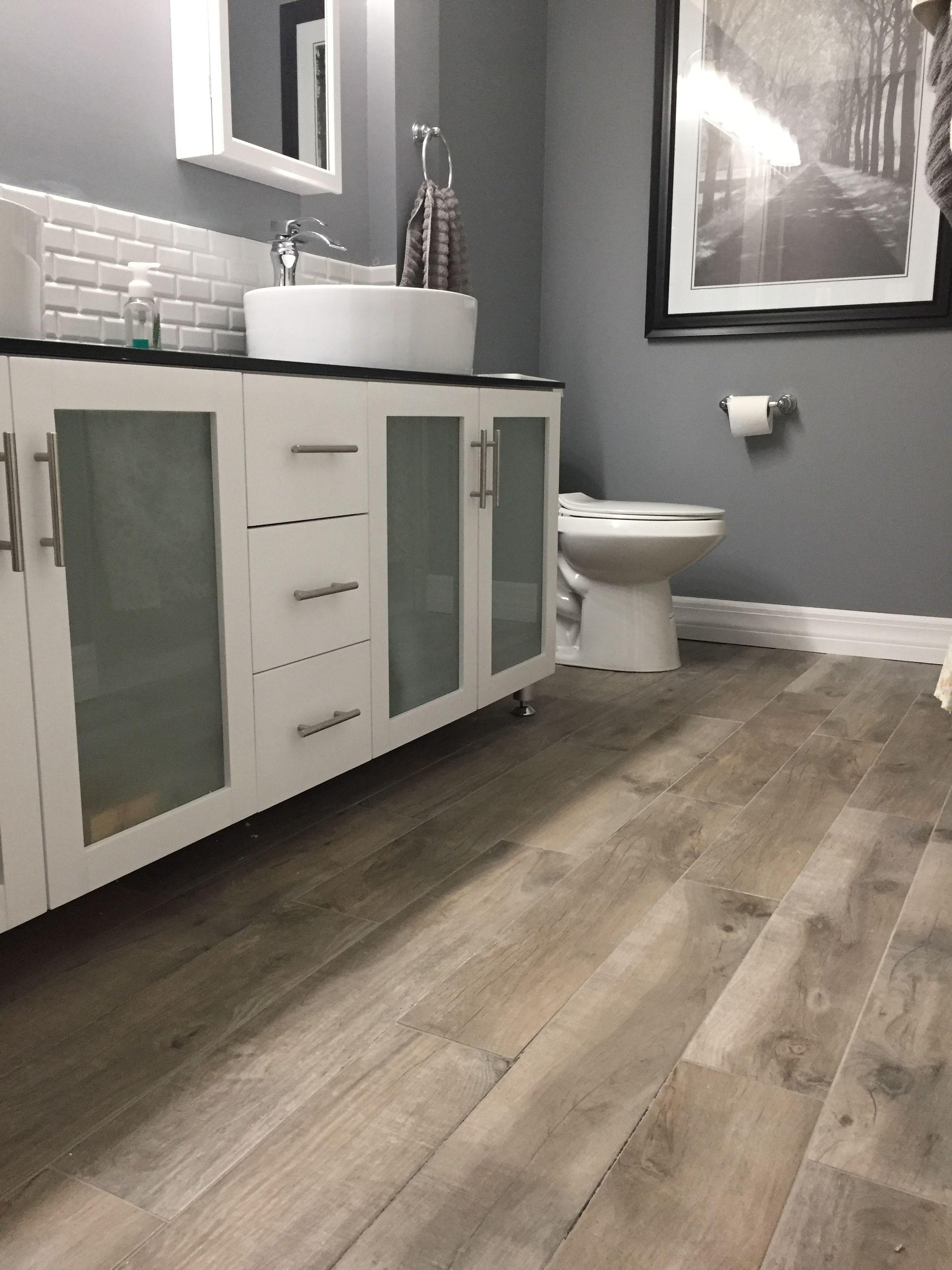 Tile Floor Looks Like Rustic Wood Planks Home Depot Rustic