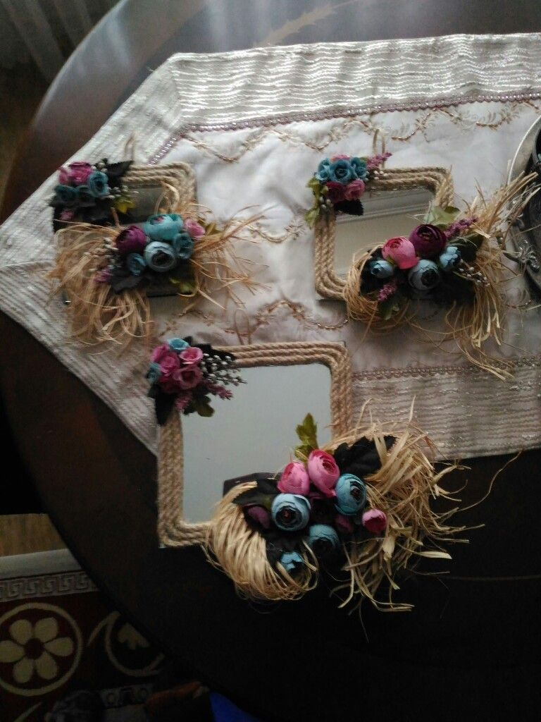 Dekoratif Ayna Süsleme Hobi Elişi