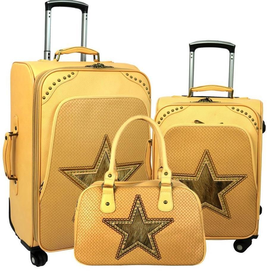 Lone-Star 3-PC Wheeled Luggage Set - Tan
