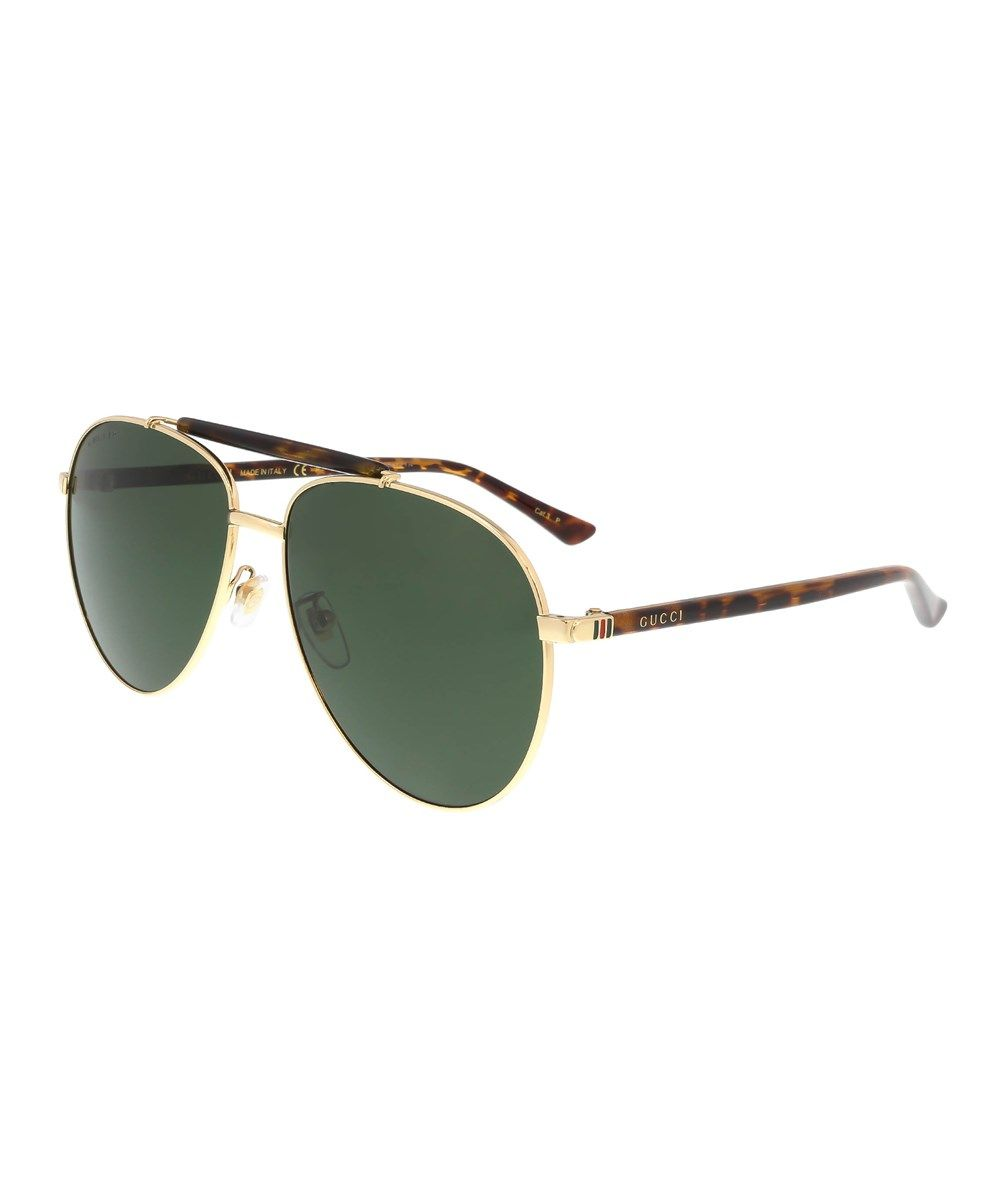 97458a3f7d9 GUCCI Gg0014S 006 Gold Aviator Sunglasses .  gucci  sunglasses ...