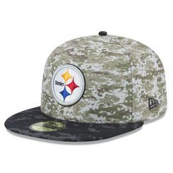 new style 6033e 1783e Men s Pittsburgh Steelers New Era Camo 2015 Salute to Service On-Field  59FIFTY Fitted Hat