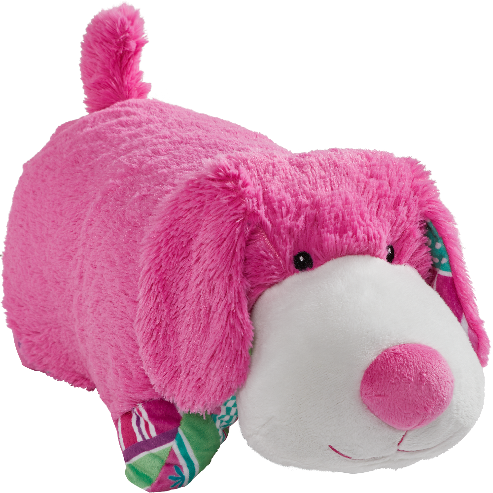 Colorful Pink Puppy Pillow Pet Animal Pillows Puppy Pillows