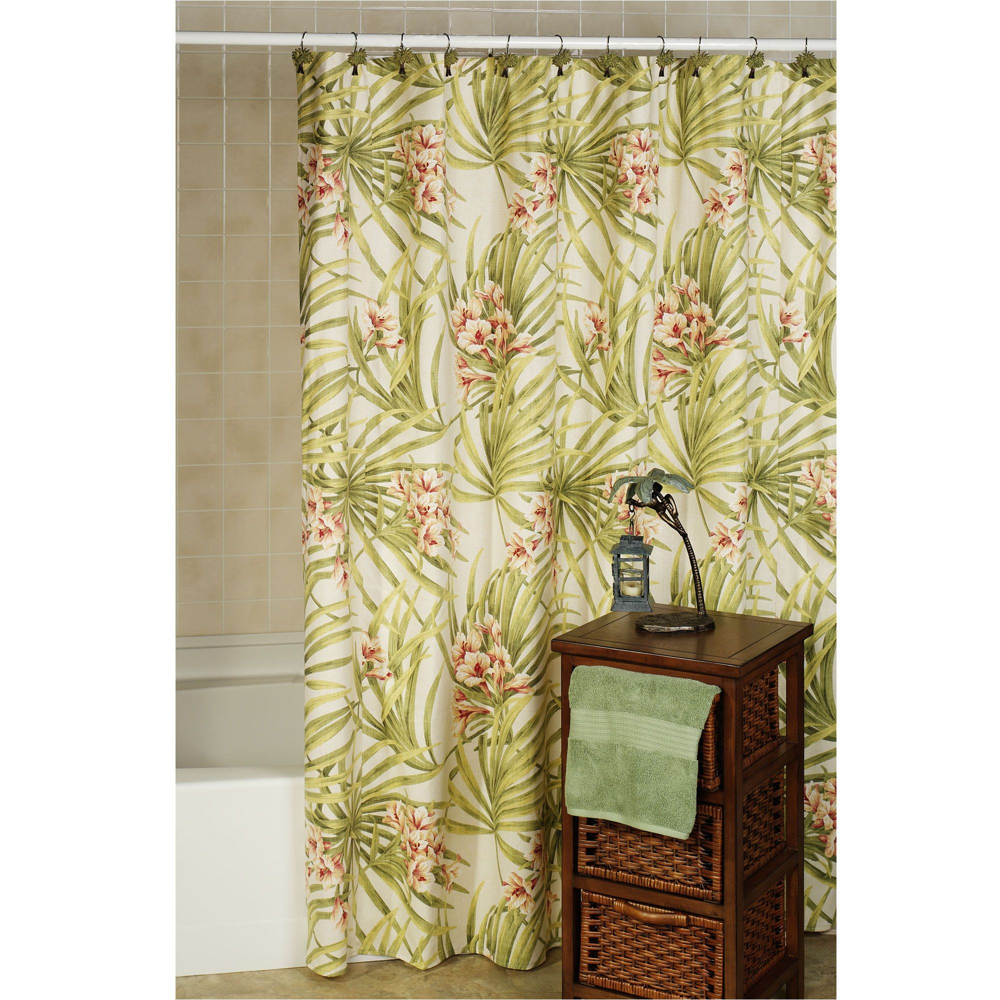 shower island tropical sea pin curtain curtains