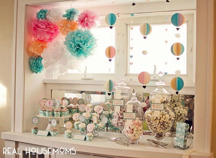 Hot Air Balloon Baby Shower Via Realhousemoms Do It Yourself