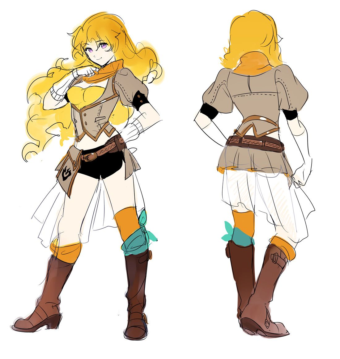 Rwby Character Design Contest : Yang xiao long image gallery character design references