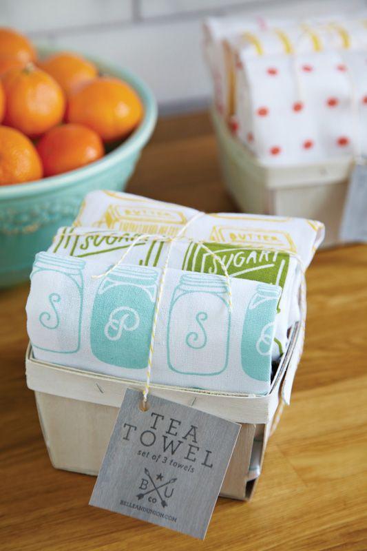 printed tea towel gift